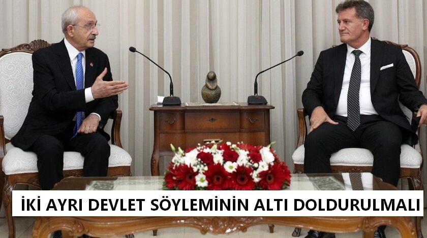 Arıklı, Kılıçdaroğlu ile bir araya geldi.