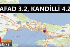 İstanbul'da deprem meydana geldi.