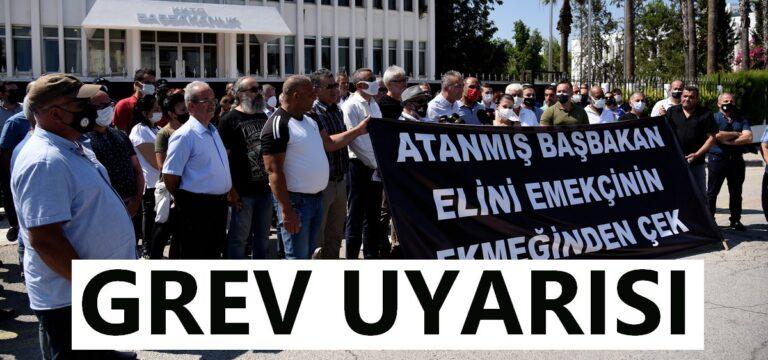 23 sendika, Başbakanlık önünde basın açıklaması yaptı.
