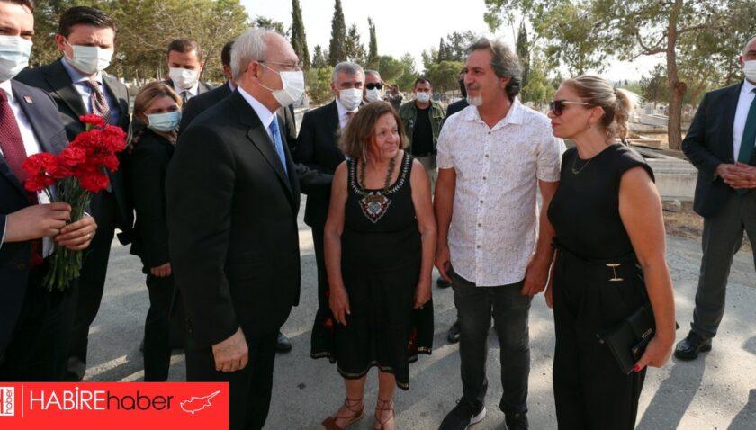 Kılıçdaroğlu,  Kutlu Adalı'nın mezarını ziyaret etti.
